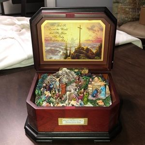 THOMAS KINKADE(NEW)-GOSPEL MUSICAL BOX W/SCENE